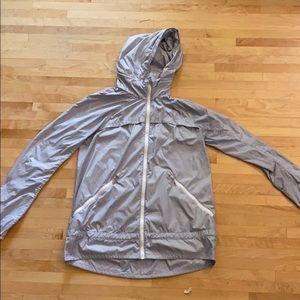 Lululemon windbreaker grey fall jacket